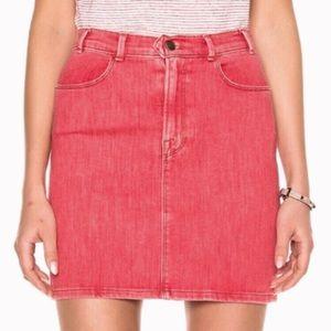 Frame Denim Le Color Crimson Pencil Mini Skirt 28